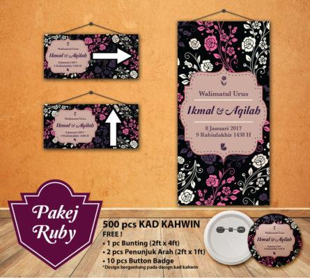 Button Badge On Invaber Pakej Kad Kahwin Ruby No Minimum Order