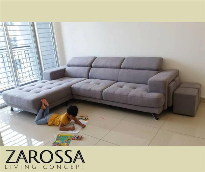 Exceptionnel Fabric Upholstered Sofa   Cover Features Soft Cotton Construction