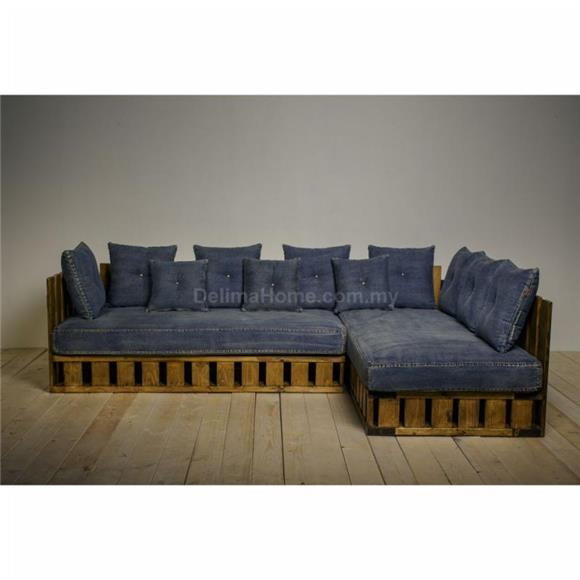 Imported Custom Made   Imported Custom Made Denim Sofa