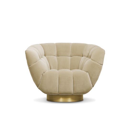 Velvet Chairs - Living Room Set