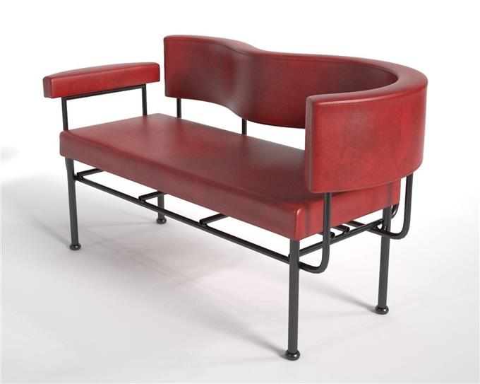 Lounge Chair Two Seater - Powder Coated Steel Frame