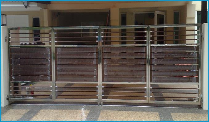 Stainless Steel Gate On Invaber Stainless Steel Gate With Wood