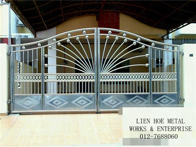 Steel Gate Designs On Invaber Stainless Steel Main Gate Design
