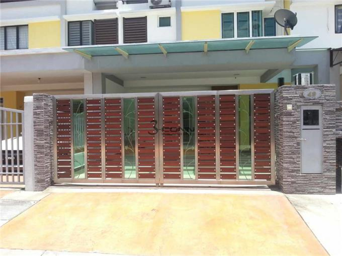 Front Door On Invaber Stainless Steel Main Gate Design Welcoming